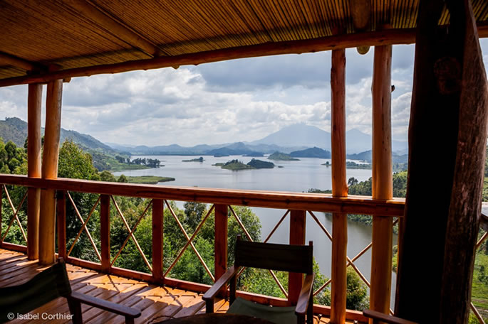 Fantastic View of Lake Mutanda - Chameleon Hill Lodge